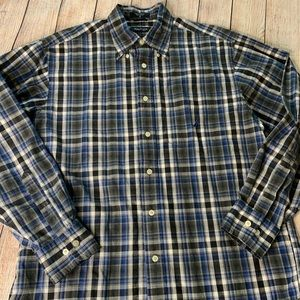 Nautica Plaid Button Up Shirt Medium